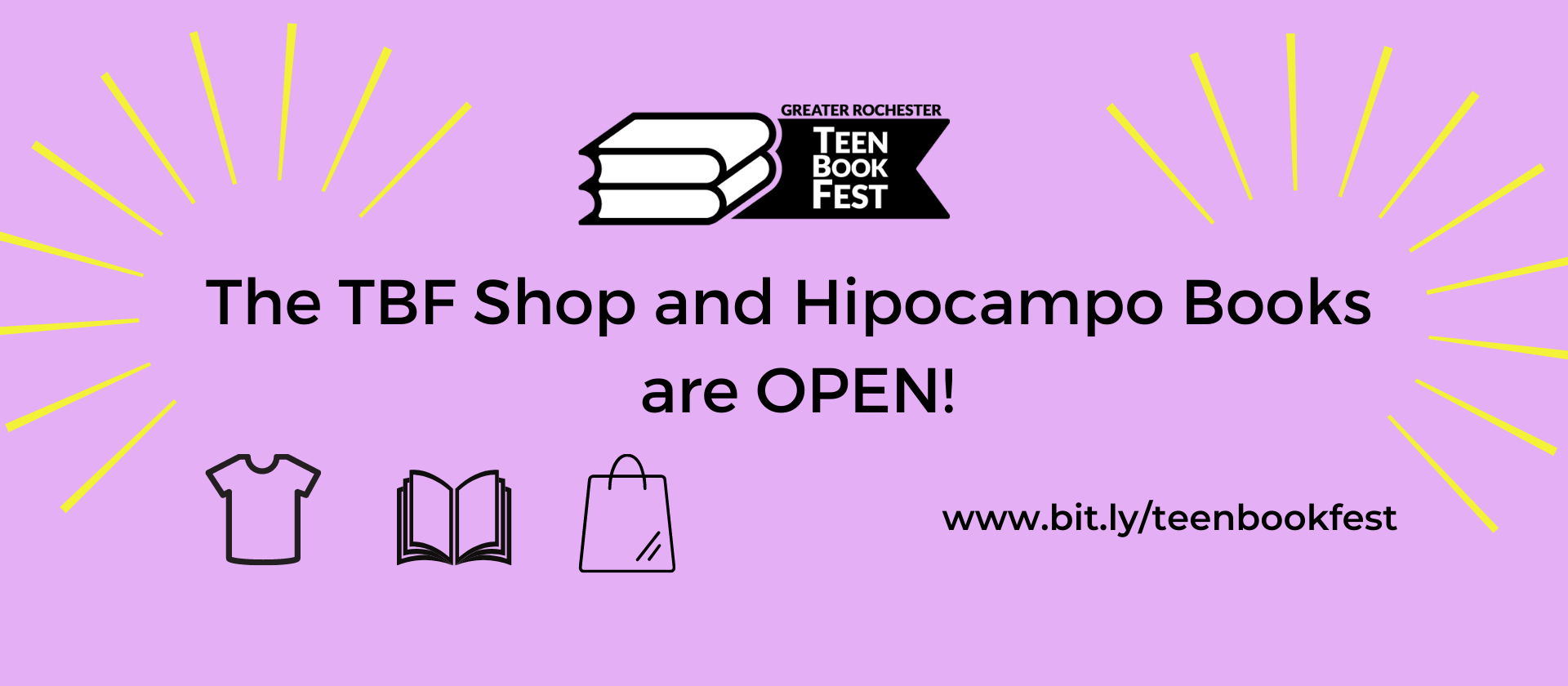 The TBF shop and Hipocampo Books are OPEN! Help Support TBF!