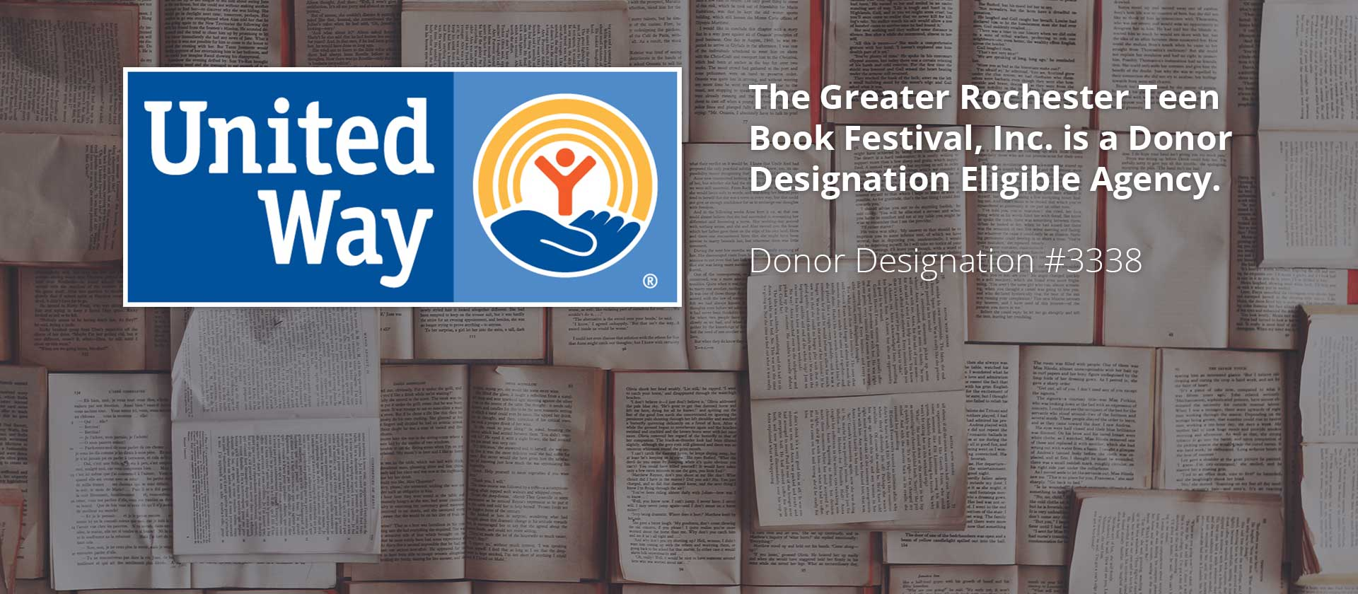 Donate to Teen Book Fest through your company's annual United Way Campaign.